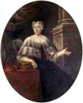 Portrait of Italian mathematician and physicist Laura Bassi (1711-1778) by Carlo Vandi (18th century); source: wikipedia